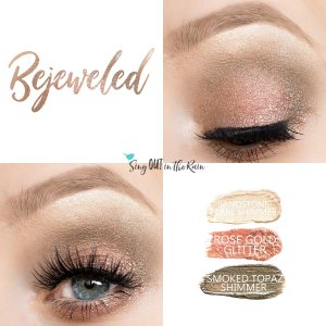 Bejeweled Eye Trio, Sandstone Pearl ShadowSense, Rose Gold Shimmer Shadowsense , Smoked Topaz Shimmer ShadowSense