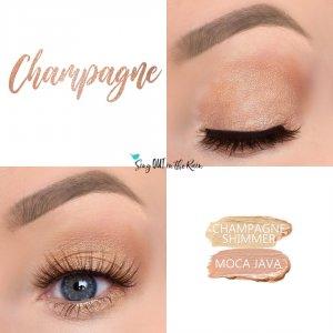 Champagne Eye Duo, Champagne Shimmer ShadowSense, Moca Java ShadowSense