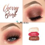 Cherry Bomb Eye Trio, Sandstone Pearl Shimmer ShadowSense, Garnet ShadowSense, Cherry Blush