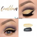 Countdown Eye Duo, Radiant Gold Glitter ShadowSense, Onyx ShadowSense