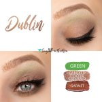 Dublin Eye Trio, Green ShadowSense, Candied Cocoa Shimmer ShadowSense, garnet shadowsense