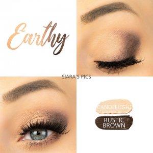 Earthy Eye Duo, Rustic Brown ShadowSense, Candlelight ShadowSense