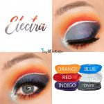 Electra Eye Look, Orange ShadowSense, Red ShadowSense, Indigo Shadowsense, Blue ShadowSense, Onyx ShadowSense, Silver Shimmer ShadowSense