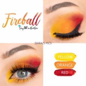Fireball Eye Trio, yellow shadowsense, orange shadowsense, red shadowsense