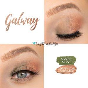 Galway Eye Duo, Mystic Moss ShadowSense, Copper Rose Shimmer ShadowSEnse