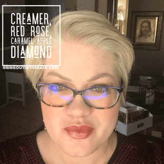 Creamer LipSense, Red Rose LipSense, Caramel Apple Diamond LipSense, LipSense Mixology