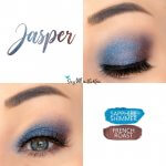 Jasper Eye Duo Collage, Sapphire Shimmer ShadowSense, French Roast ShadowSense