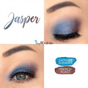 Jasper Eye Duo Collage, Sapphire Shimmer ShadowSense, French Roast ShadowSense