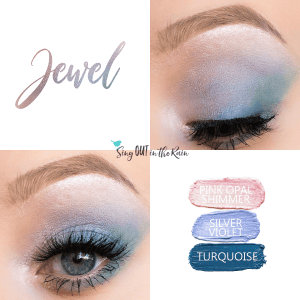 Jewel Eye Trio, Pink Opal Shimmer ShadowSense, Silver Violet ShadowSense, Turquoise ShadowSense