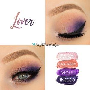 Lover Eye Quad, Pink Opal Shimmer ShadowSense, Pink Posey ShadowSense, Violet ShadowSense, Indigo ShadowSense