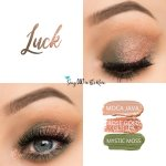 Luck Eye Trio, Moca Java ShadowSense, Rose Gold Glitter ShadowSense, Mystic Moss ShadowSense