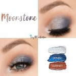 Moonstone Eye Trio, Silver Shimmer Shadowsense, denim shadowsense, garnet shadowsense