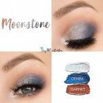 Moonstone Eye Trio, Silver Shimmer Shadowsense, denim shadowsense, garnet shadowsense