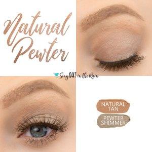 Natural Pewter Eye Duo, Pewter Shimmer ShadowSense, Natural Tan ShadowSense