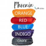 Phoenix Eye Look, Orange Shadowsense, Red ShadowSense, Blue ShadowSense, Indigo ShadowSense, Onyx ShadowSense