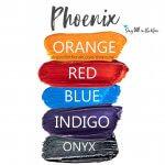 Phoenix Eye Look, Orange Shadowsense, Red ShadowSense, Blue ShadowSense, Indigo ShadowSense, Onyx ShadowSense