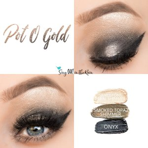 Pot O Gold Eye Trio, Onyx ShadowSense, Smoked Topaz Shimmer ShadowSense, Sandstone Pearl Shimmer ShadowSEnse