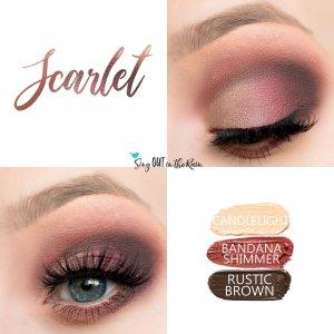 Scarlet Eye Trio, Rustic Brown Shadowsense, Bandana Shimmer ShadowSense, Sandstone Pearl ShadowSense