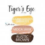 Tiger's Eye Trio, warm gold shimmer shadowsense, moca java shadowsense, rustic brown shadowsense