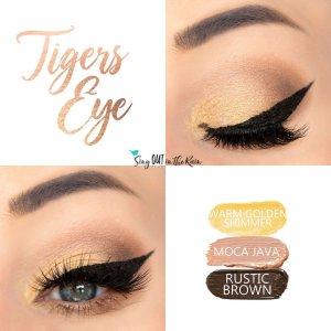 Tiger's Eye Trio, warm gold shimmer shadowsense, moca java shadowsense, rustic brown shadowsense