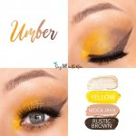 Umber Eye Quad, yellow shadowsense, moca java shadowsense, rustic brown shadowsense, sandstone pearl shimmer shadowsense