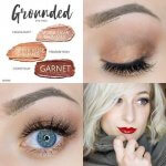 Grounded Eye Trio, Garnet ShadowSense, Rose Gold Glitter ShadowSense, Moca Java Shimmer ShadowSense