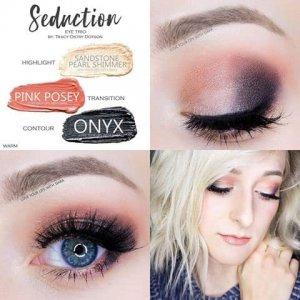 Seduction Eye Trio, Sandstone Pearl Shimmer ShadowSense, Pink Posey ShadowSense, Onyx Shadowsense