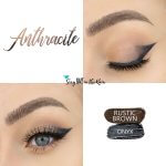 Anthracite Eye Look, Rustic Brown ShadowSense, Onyx ShadowSense, SeneGence ShadowSense