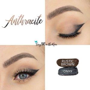 Anthracite Eye Look, Rustic Brown ShadowSense, Onyx ShadowSense, SeneGence ShadowSense