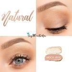Natural Eye Look, Sandstone Pearl Shimmer ShadowSense, Moca Java ShadowSense