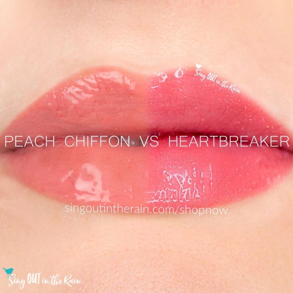 Peach Chiffon LipSense, Heartbreaker LipSense