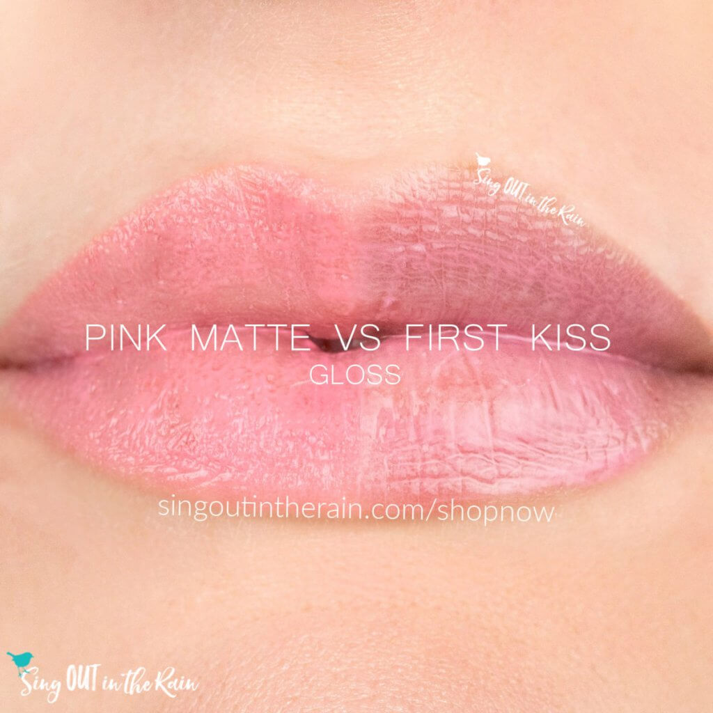 pink matte gloss, first kiss gloss