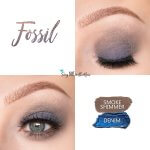 Fossil Eye Look, Denim ShadowSense, Smoke Shimmer ShadowSense