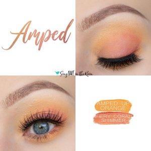 Amped Eye Duo, Fiery Coral Shimmer ShadowSense, Amped Up Orange ShadowSense
