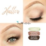 Hatter Eye Trio, Sea Breeze Shimmer shadowsense, candied cocoa shimmer shadowsense, Rustic Brown ShadowSense