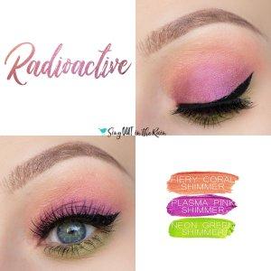 Radioactive Eye Trio, Fiery Coral Shimmer ShadowSense, Plasma Pink Shimmer ShadowSense, Neon Green Shimmer ShadowSense