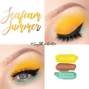 Seafoam Summer Eye Trio, Yellow ShadowSense, Americano ShadowSense, Seafoam Shimmer ShadowSense