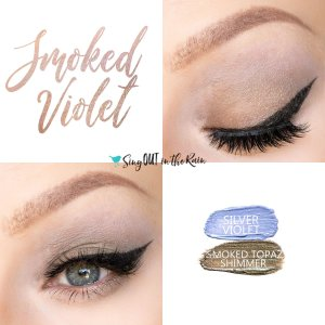 Smoked Violet Eye Duo, Silver Violet ShadowSense, Smoked Topaz Shimmer ShadowSense