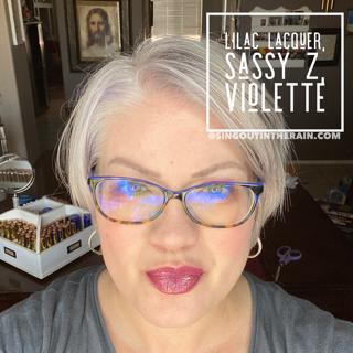 Lilac Lacquer LipSense, Sassy Z LipSense, LipSense Mixology, Violette LipSense