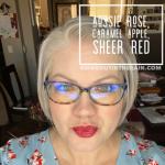 Aussie Rose LipSense, Caramel Apple LipSense, LipSense Mixology, Sheer Red LipSense