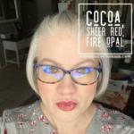 Sheer Red LipSense, Cocoa LipSense, LipSense Mixology, Fire Opal LipSense