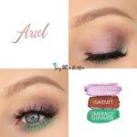 Ariel Eye Look, Lavender Shimmer ShadowSense, Emerald Shimmer ShadowSense, Garnet ShadowSense
