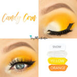 Candy Corn Eye Look, Yellow ShadowSense, Orange ShadowSense, Snow ShadowSense, Moonbeam Shimmer ShadowSense