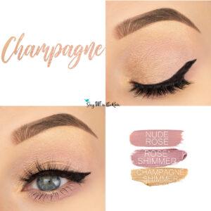 Champagne Eye Look, Rose Champagne Eye Look, Nude Rose ShadowSense, Rose Shimmer ShadowSense, Champagne Shimmer ShadowSense