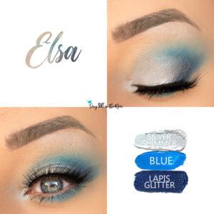 Elsa Eye Look, Blue ShadowSense, Lapis Glitter ShadowSense, Silver Shimmer ShadowSense