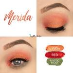 Merida Eye Look, Lava Shimmer ShadowSense, Red ShadowSense, Mystic Moss ShadowSense, SeneGence ShadowSense